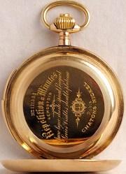 карманные мужские трехкрышечные часы