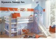 Новая детская кровать Снуппи люкс.
