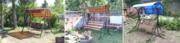 Садовые разборные качели в Могилеве