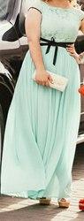 Вечернее платье Бирюзового цвета Размер 46-48 Б/У Надевала 1 раз