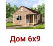 Дом сруб 6х9 Лева из профилированного бруса с установкой