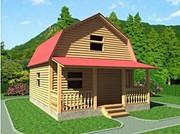 Дачный недорогой новый Дом 6х7, 5 Марсель установка в Быхове